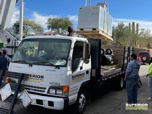 SCE BIO being hauled in
