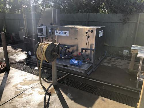 Exterior Photograph of Wash Water Treatment Container